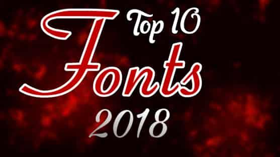 Top 10 fonts