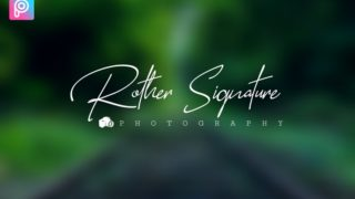 Photography Signature Logo Design