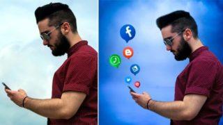Picsart Social Effect Stock Image: