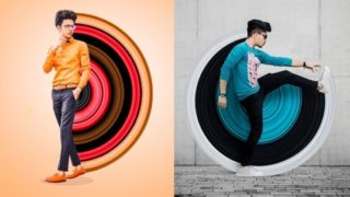 Amazing Portrait Effect Stock Image: