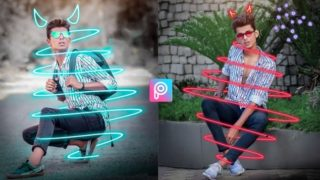 PicsArt Neon Effect |Neon PNG Download