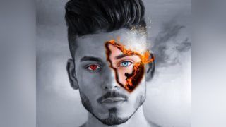 Fire Face Editing | Background Image Download