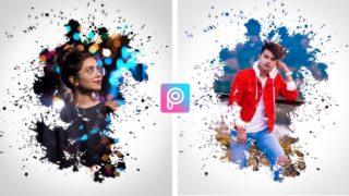 PicsArt Colourful Splash Effect PNG