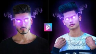 Picsart Glowing Eye Photo Editing | Png & Background Download