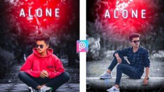 PicsArt Alone Photo Editing Stock Image Download