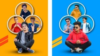 PicsArt Trio Photo Editing | Png Background Download