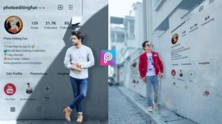 Instagram Profile Wall Photo Editing in PicsArt Png Download
